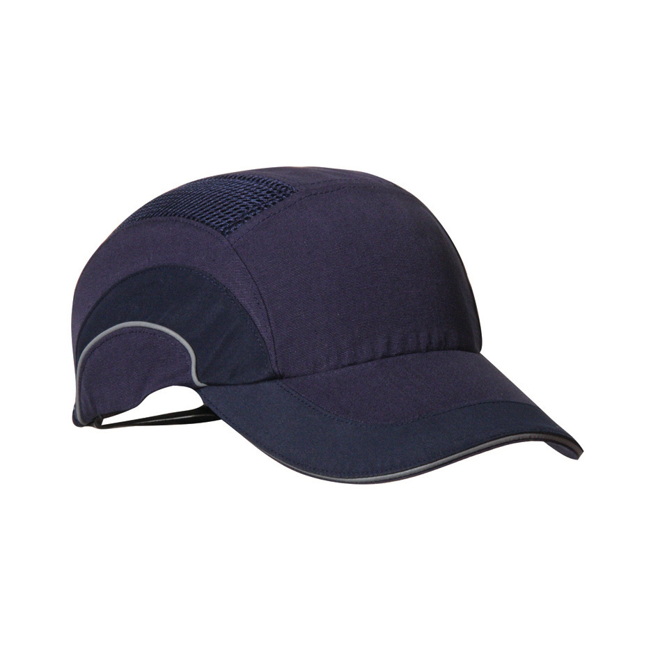 JSP Hard Cap A1 Plus Ventilated Adjustable with Standard Peak 70mm Navy Ref ABR000-000-500