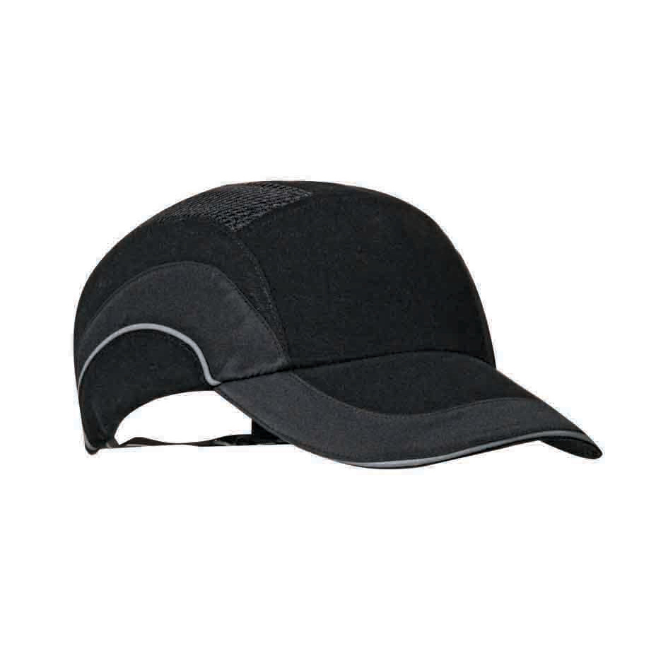 JSP Hard Cap A1 Plus Ventilated Adjustable with Standard Peak 70mm Black Ref ABR000-001-100