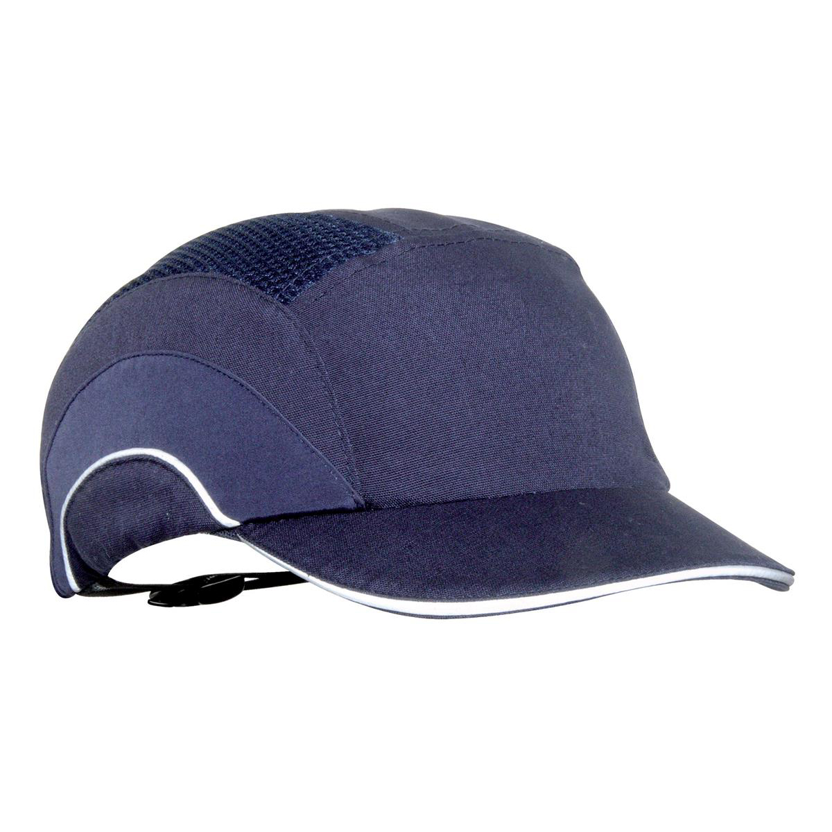 JSP Hard Cap A1 Plus Ventilated Adjustable with Short Peak 50mm Navy Ref ABS000-002-100