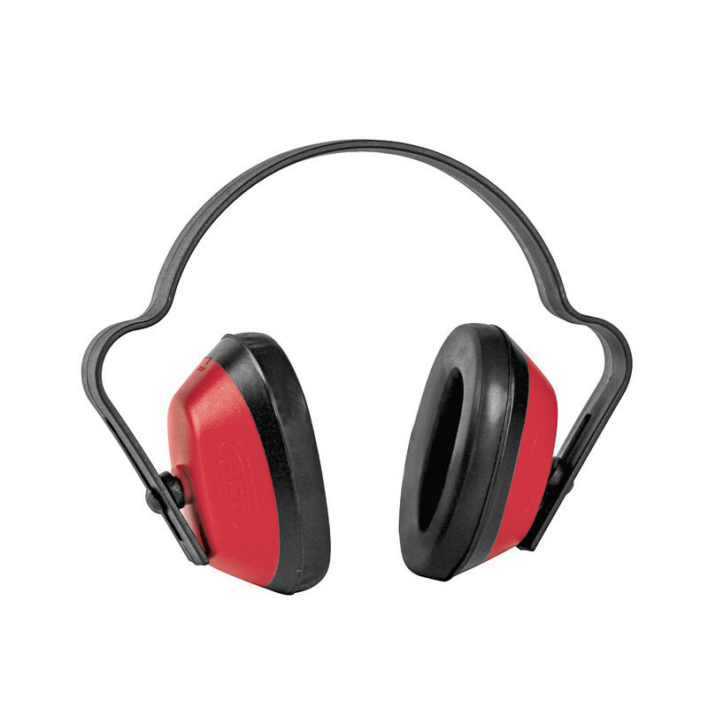 Economuff Ear Defender Durable Polystyrene SNR25 Red and Black