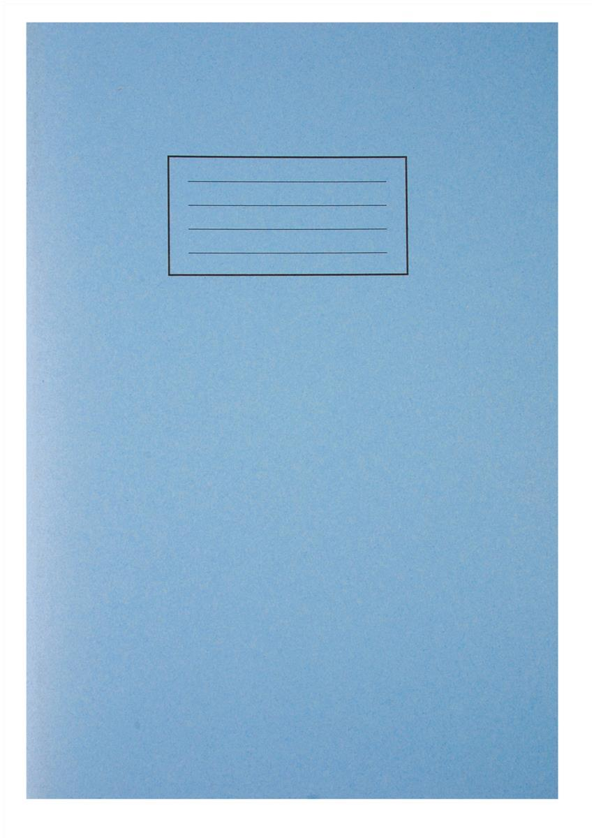 Image for Silvine Exercise Book Plain 75gsm 80 Pages A4 Blue Ref EX114 [Pack 10]
