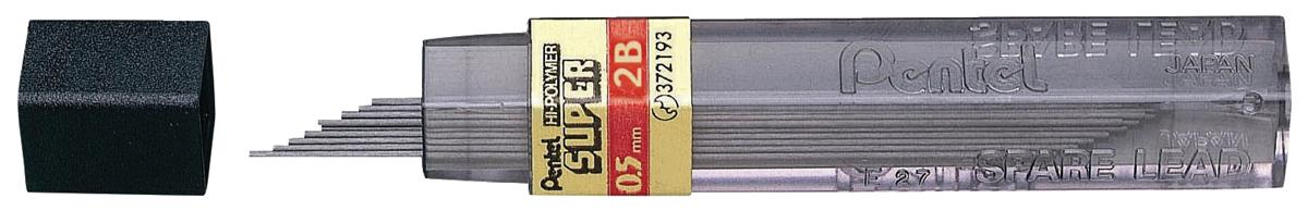 Image for Refill Lead Extra-strong Hi-polymer in Tube of 12 x 2B 0.5mm [12 Tubes]