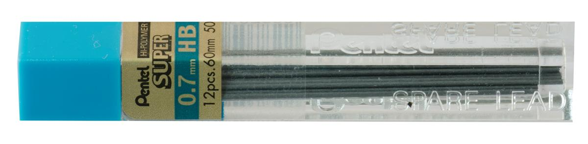 Image for Refill Lead Extra-strong Hi-polymer in Tube of 12 x HB 0.7mm [12 Tubes]