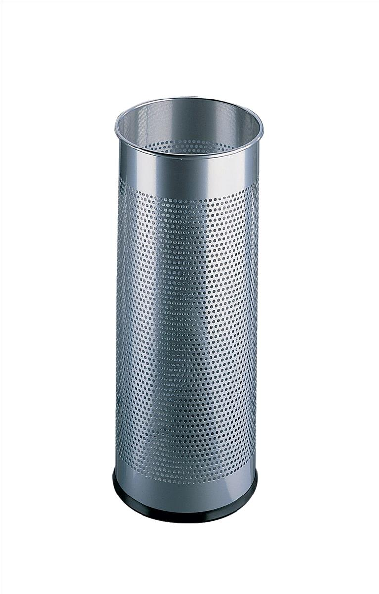 Durable Umbrella Stand Tubular Metal Perforated 28.5 Litres Silver Ref 3350/23