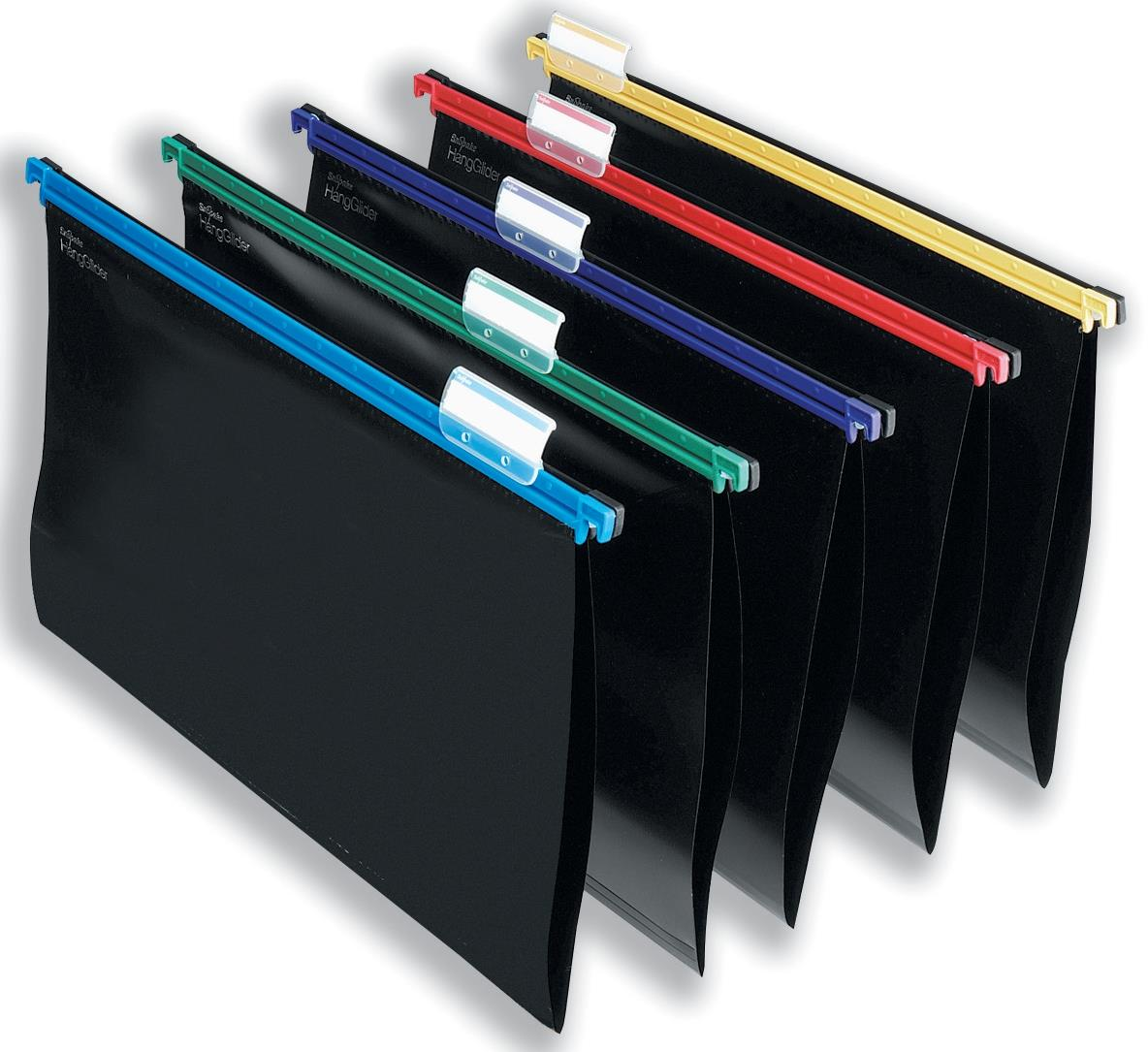 Snopake HangGlider Suspension Files Polypropylene Foolscap Assorted Ref 10279 [Pack 25]