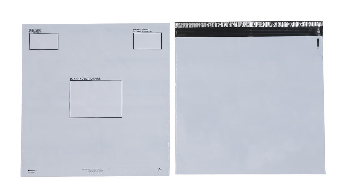 Image for Keepsafe Envelope Extra Strong Polythene Opaque DX W460xH430mm Peel & Seal Ref KSV-MO6 [Box 100]