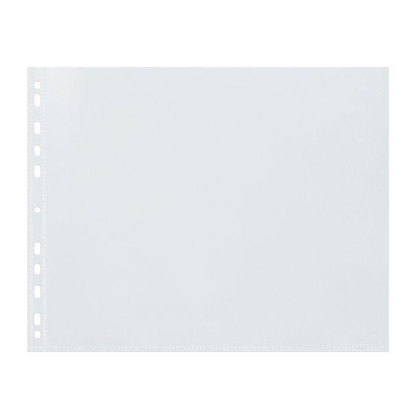 Image for Elba Pocket Polypropylene Multipunched Top-opening A3 Landscape Clear Ref 400005481 [Pack 25]