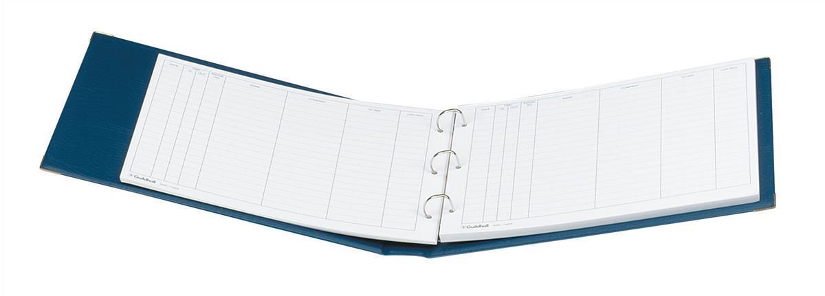 Guildhall Visitors Book Loose-leaf 3-Ring Binder PVC 50 Sheets 236x349mm Ref T40Z