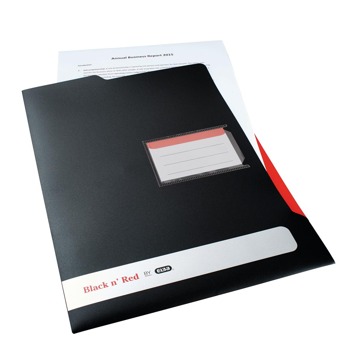 Image for Black N Red Executive L Folder Ref 400051533 [2 For 1] Jan-Dec 2018