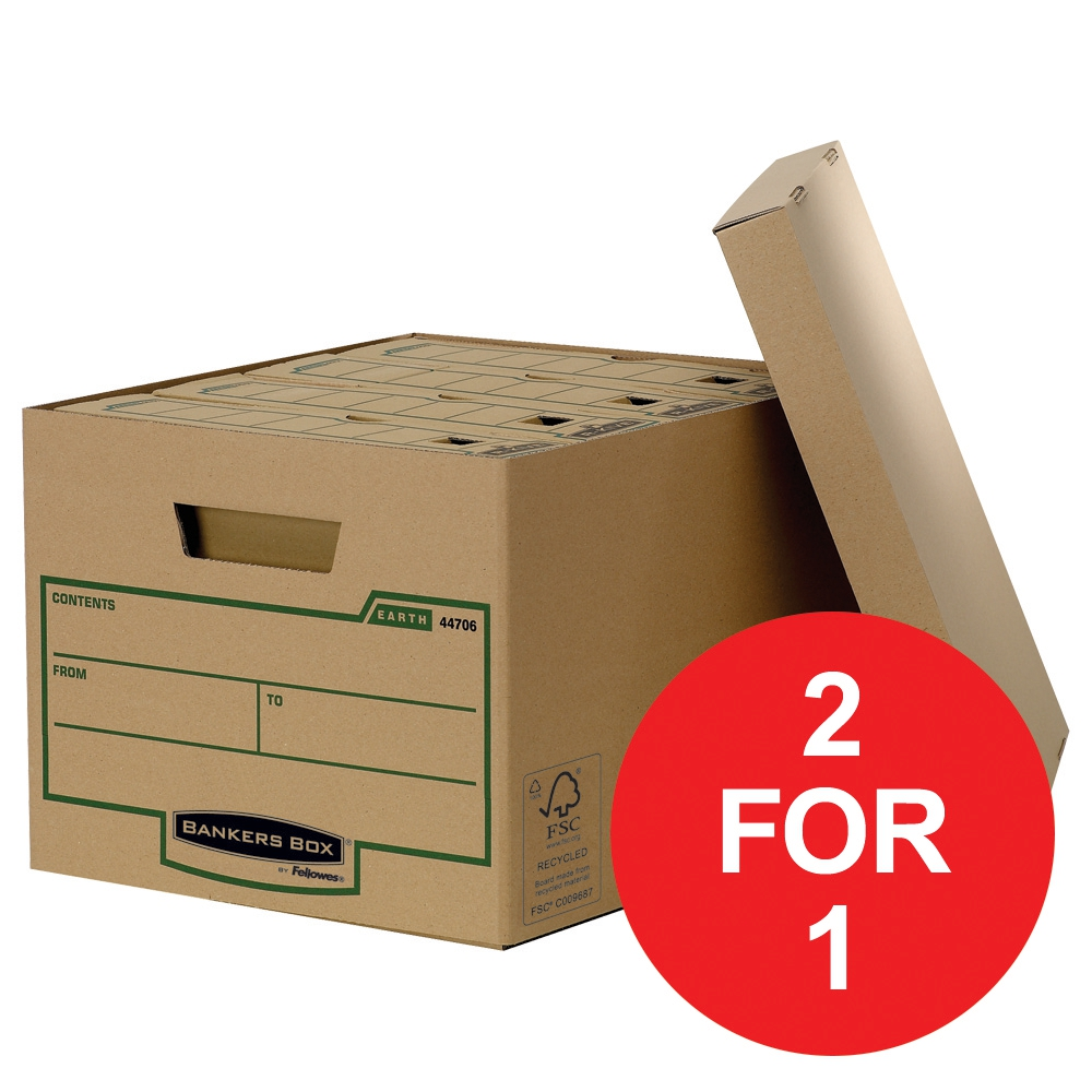 Image for Fellowes Bankers Box Earth Series Standard Storage Box Ref 4470601 [Pack 10] [2 For 1 ] Jan-Mar 2018