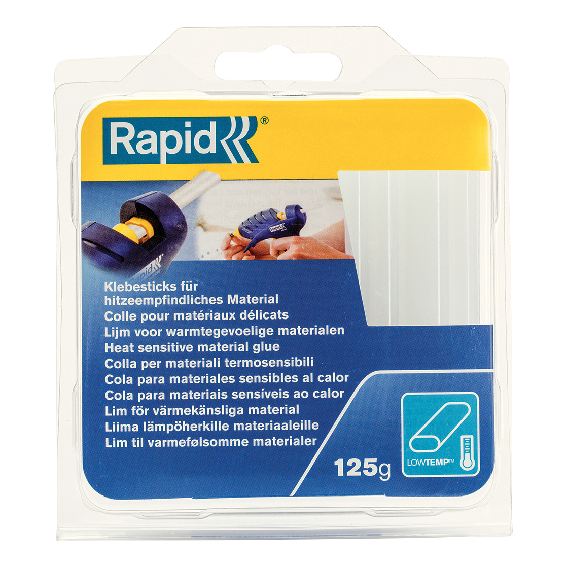 Rapid Glue Sticks Low Heat 125g Ref 40107349 Pack 14