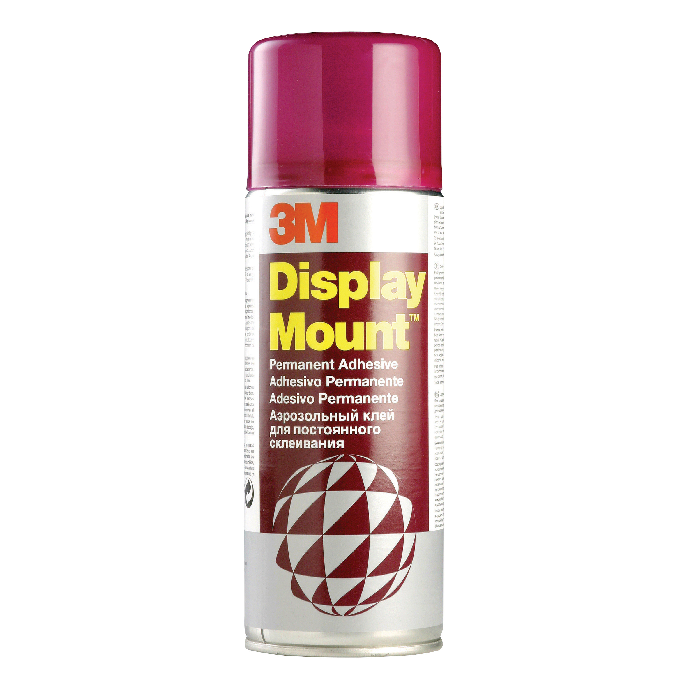 Spray Adhesive 3M DisplayMount Adhesive Spray Can Instant Hold CFC-Free 400ml Ref DMOUNT