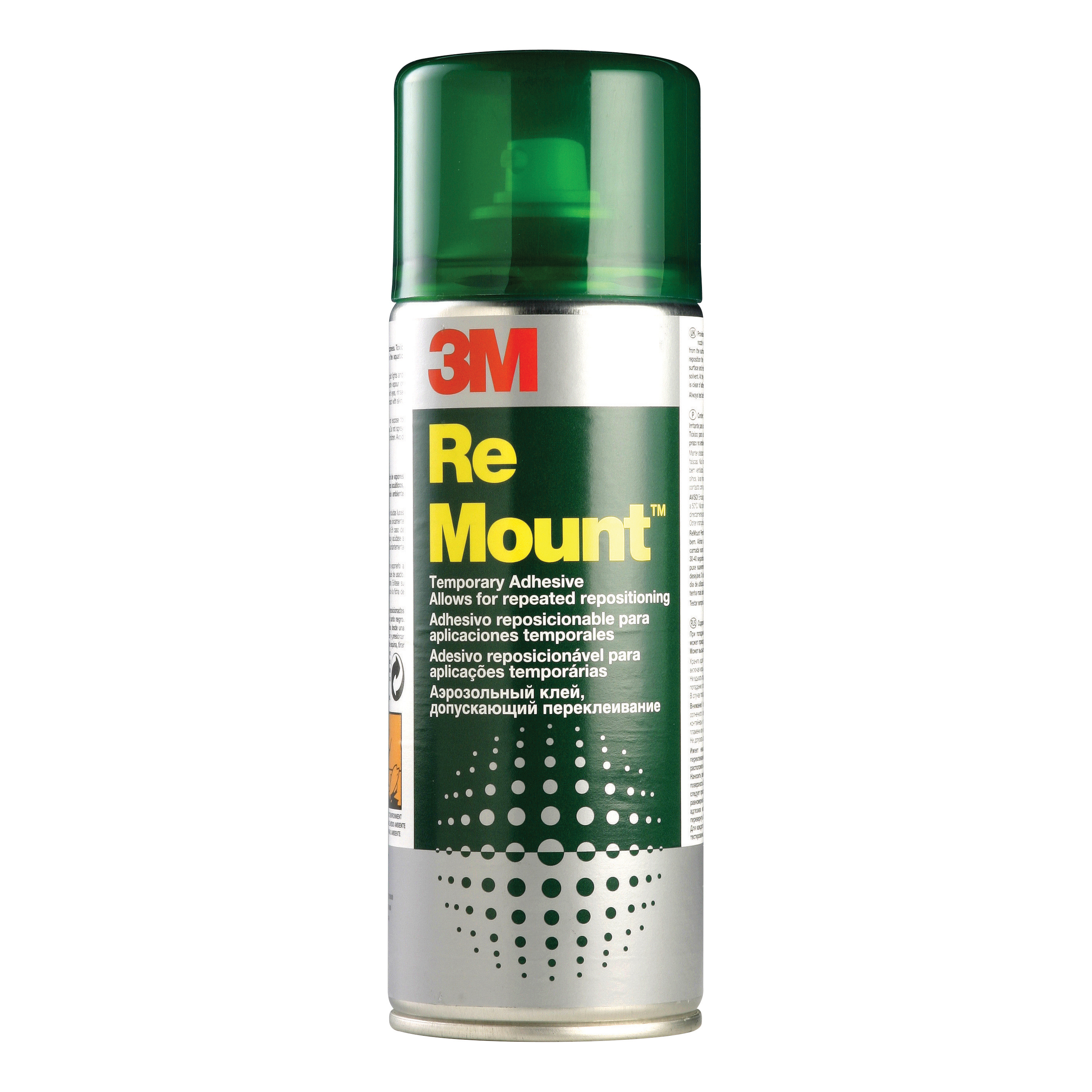Spray Adhesive 3M ReMount Adhesive Repositionable Spray Can CFC-Free 400ml Ref GS200018983