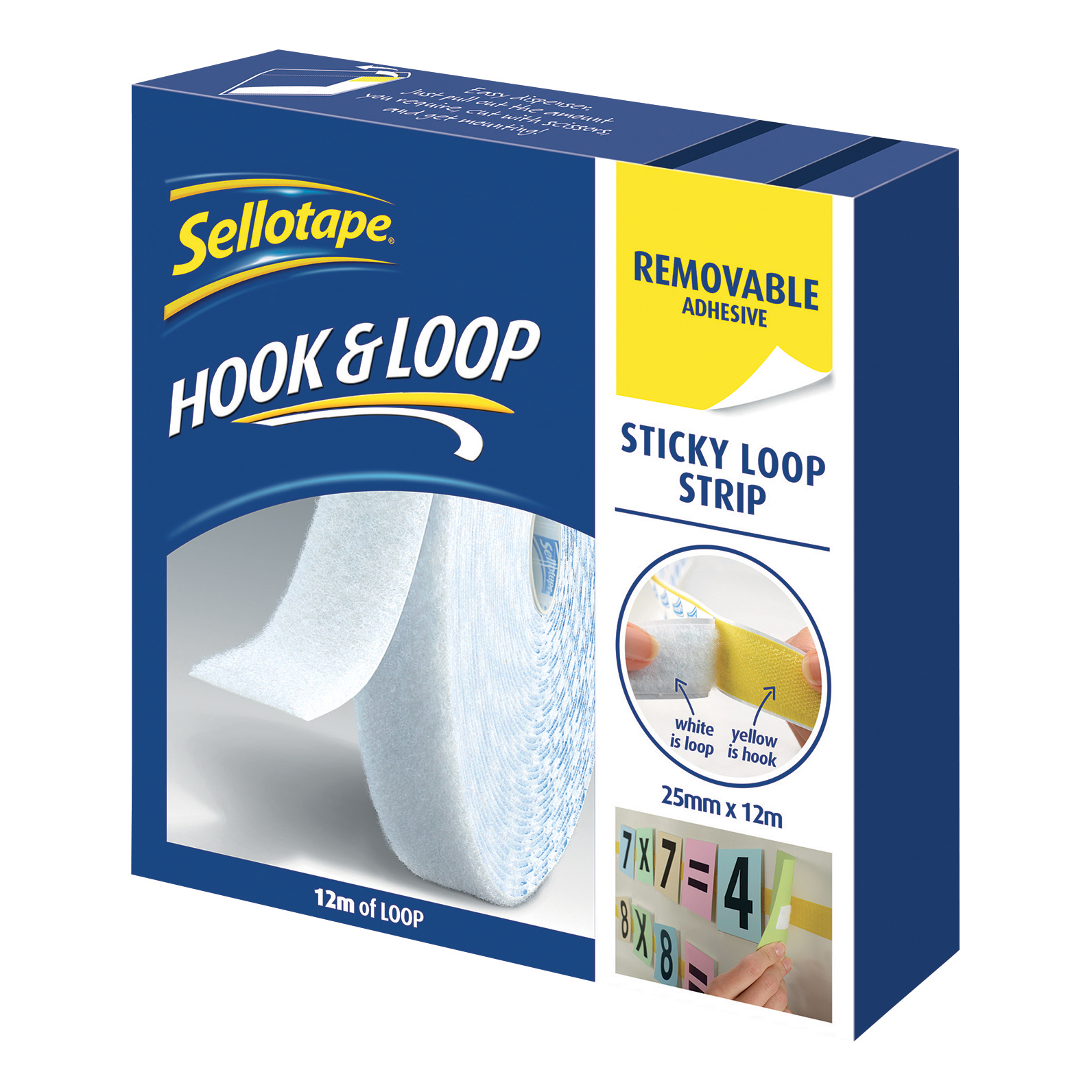 Sellotape Removable Loop Strip 25mm x 12m