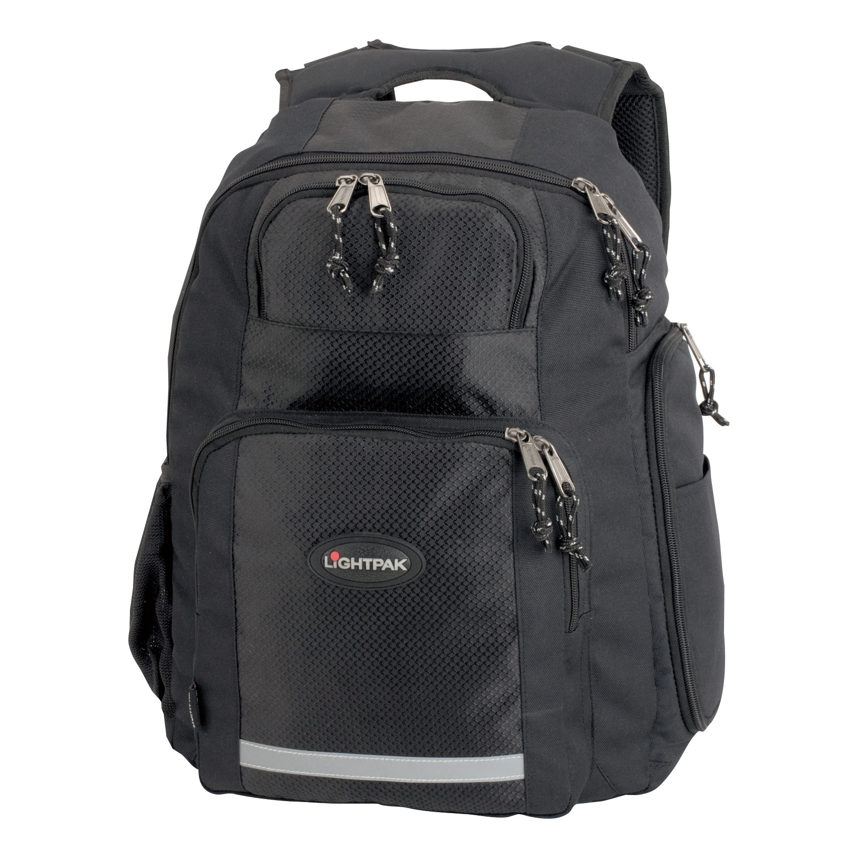 LightPak Safepak Backpack With 15in Laptop Case Polyester Black Ref 46053