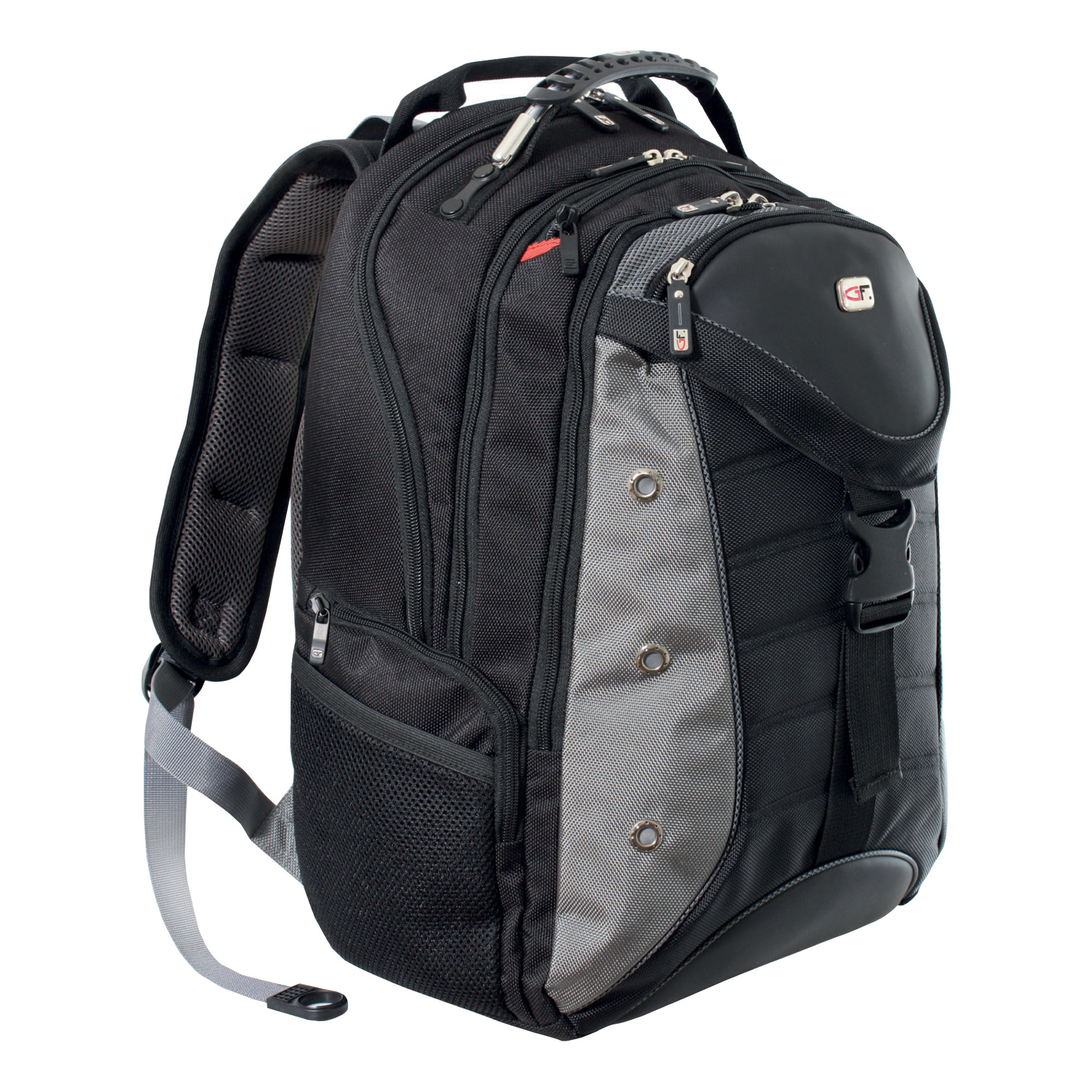 Gino Ferrari Inca 17inch Laptop Backpack with iPad/Tablet Pocket Black and Grey Ref GF503