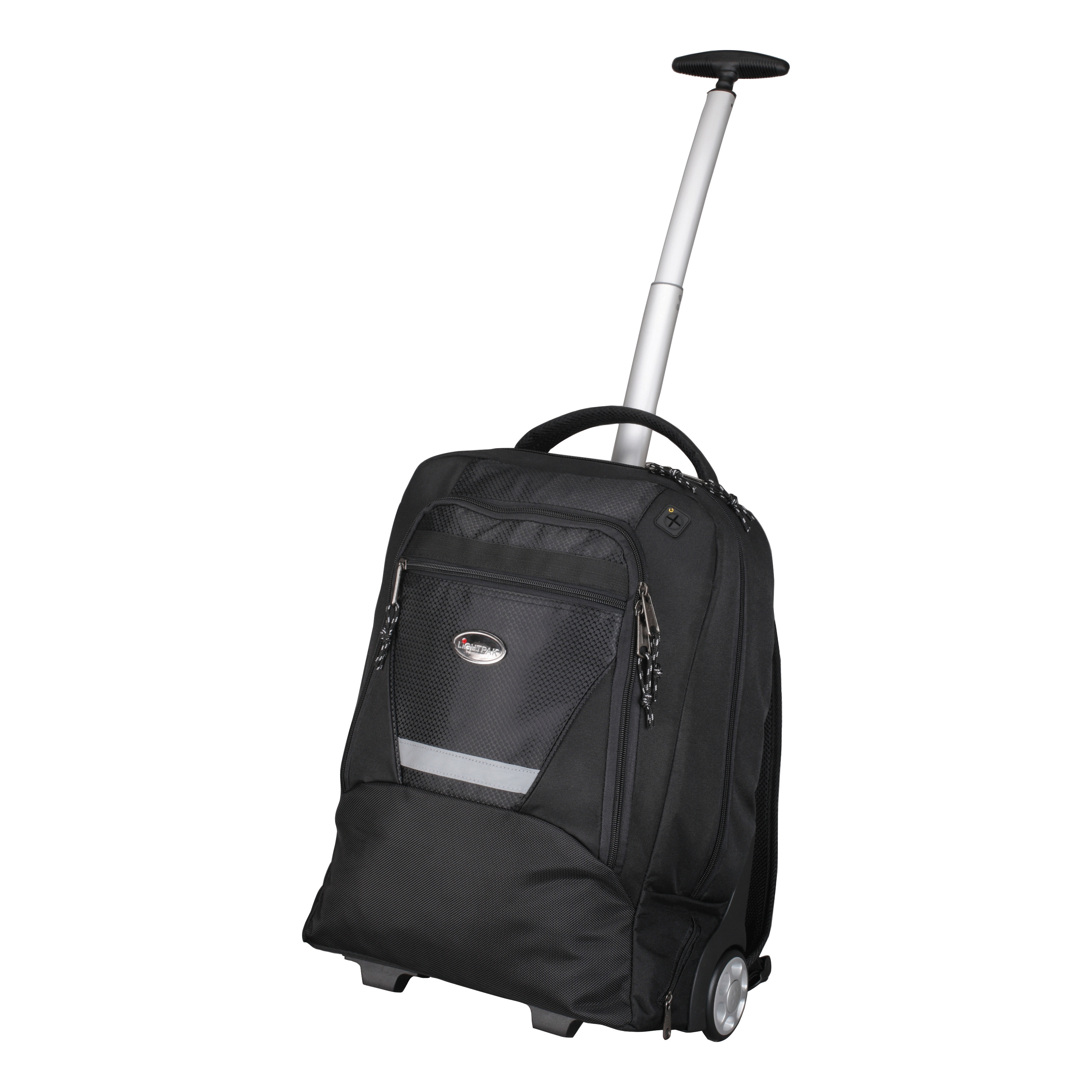 Bags & Cases Lightpak Master Laptop Backpack with Trolley Nylon Capacity 17in Black Ref 46005