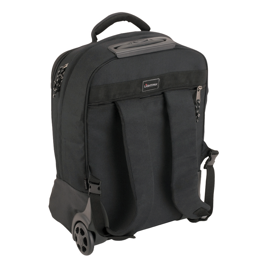 Lightpak Master Laptop Backpack with Trolley Nylon Capacity 17in Black Ref 46005