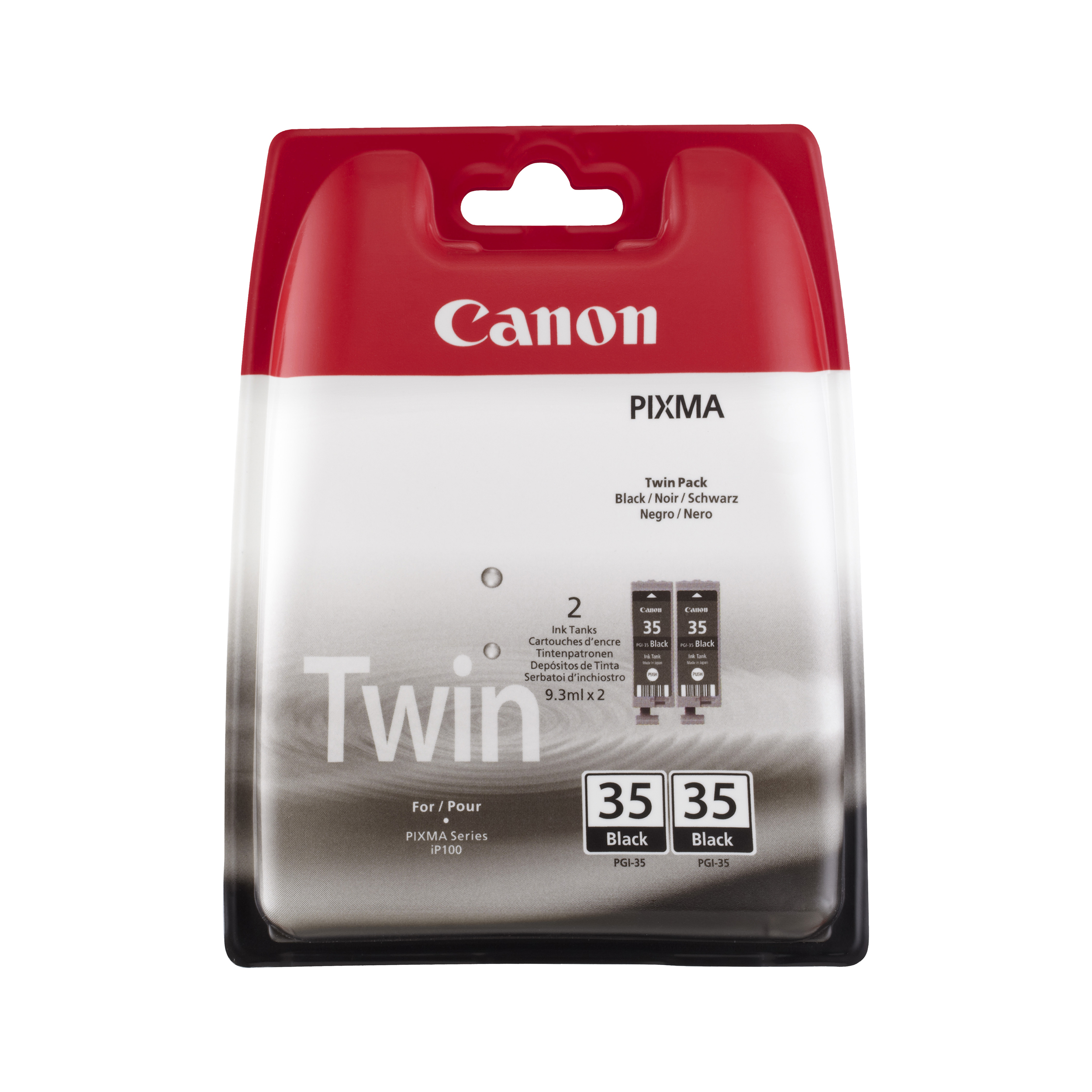 Canon PGI-35BK Inkjet Cartridge Page Life 191pp 9.3ml Black Ref 1509B012 [Pack 2]