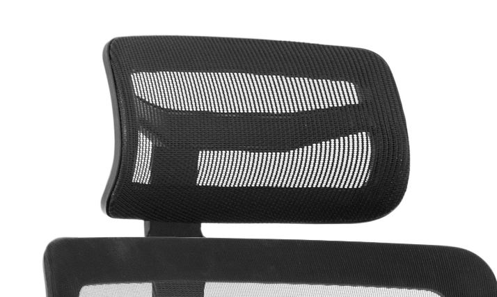 Back support rests Trexus Ergo Twist Click Mesh Headrest Black Ref AC000040
