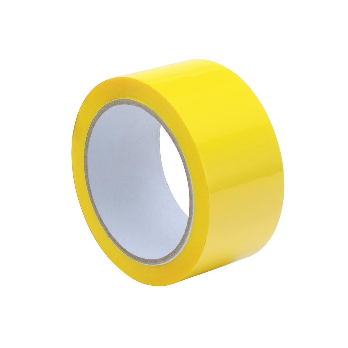 Image for Tape Polypropylene 50mmx66m Yellow [Pack 6]