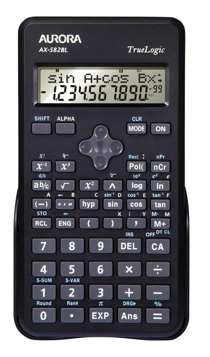 Image for Aurora AX-582BL Calculator Scientific Black Ref AX-582BL