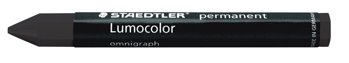 Staedtler 236 Lumocolor Omnigraph Marking Crayons Indelible Smudgeproof Black Ref 2369 [Pack 12]