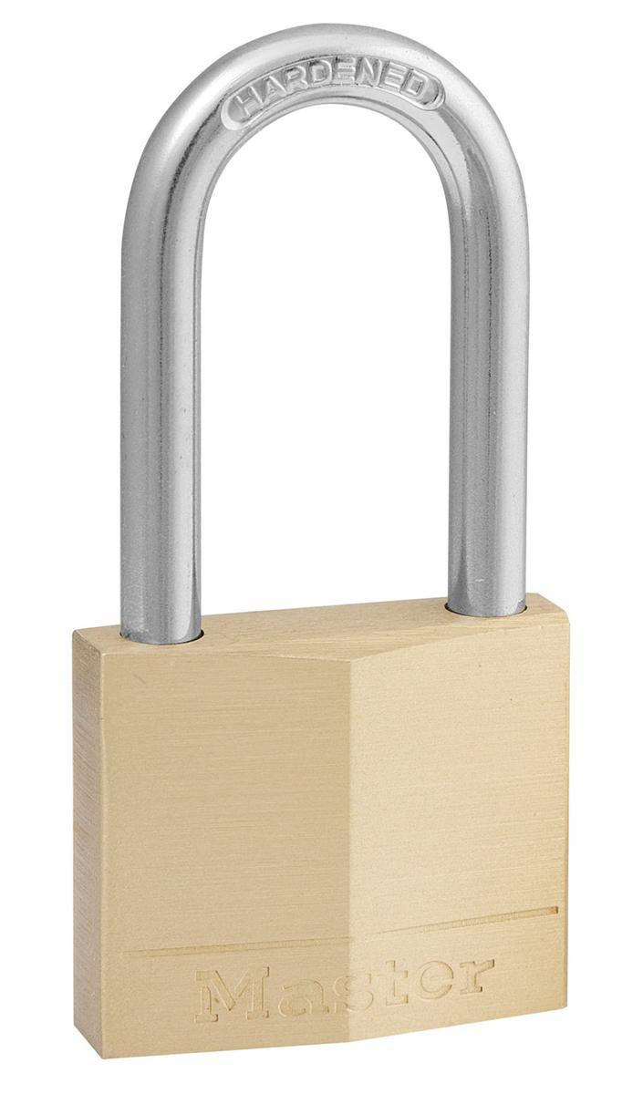 Masterlock Padlock Brass Long Shackle 40mm Ref 140LFD