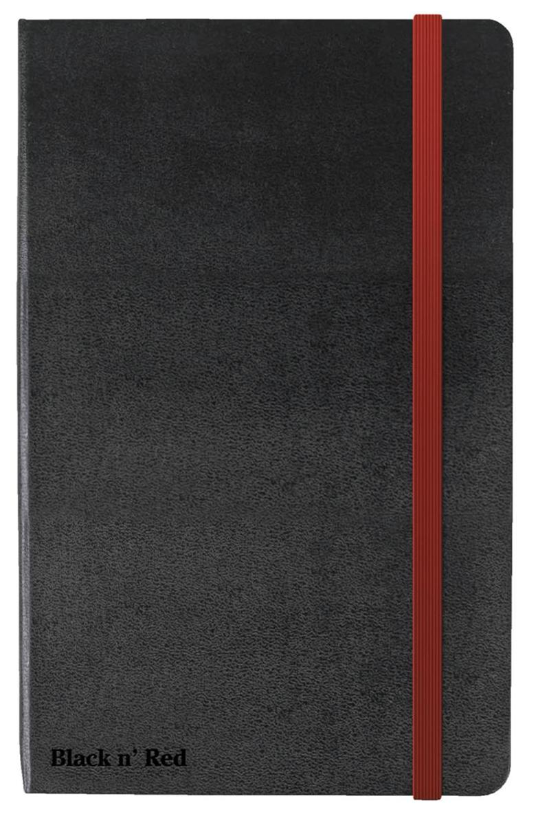 Image for Black By Black n Red Casebound Notebook 90gsm Ruled and Numbered 144pp A6 Ref 400033672