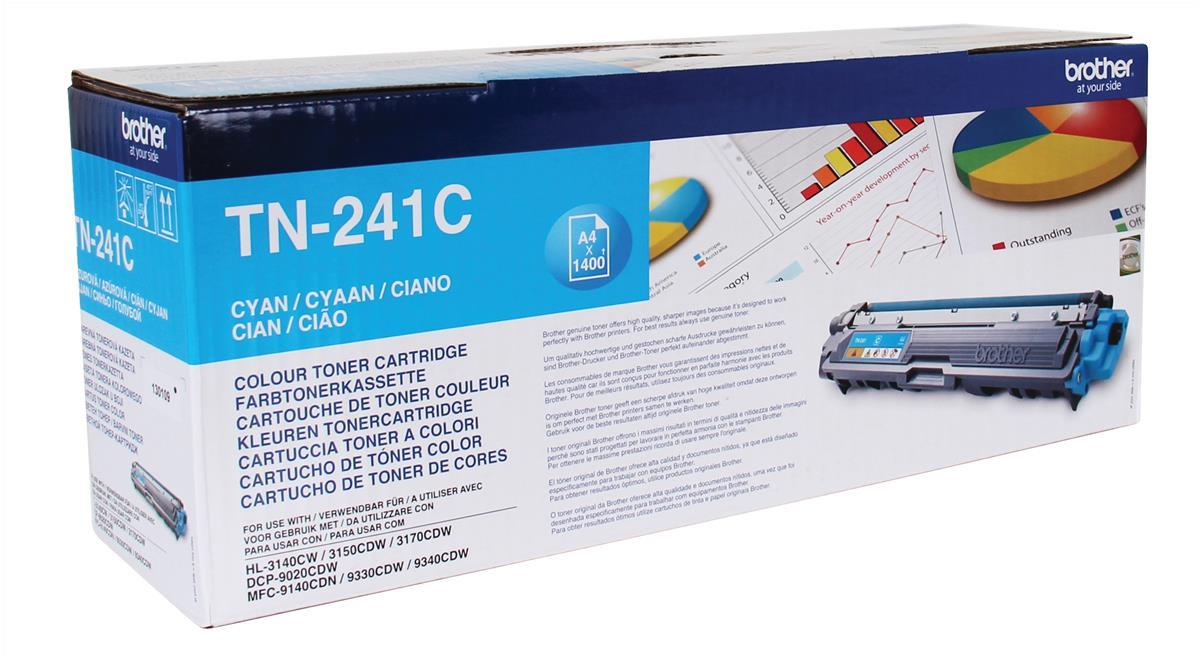 Brother Laser Toner Cartridge Page Life 1400pp Cyan Ref TN241C