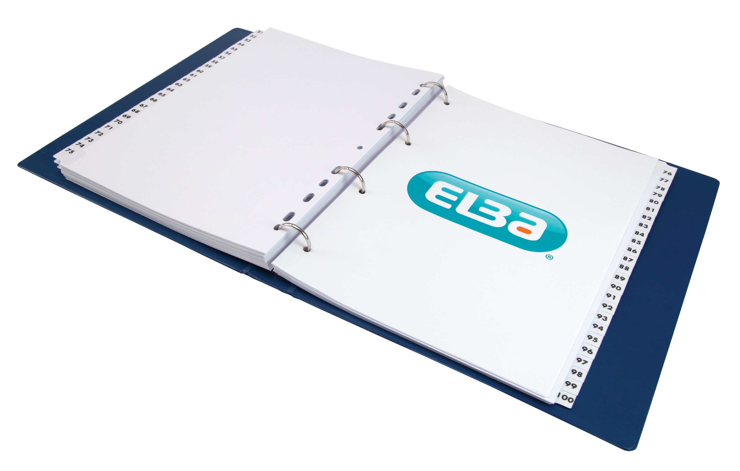 Image for Elba Dividers Europunched 1-100 Clear Tabs A4 White Ref 100080811