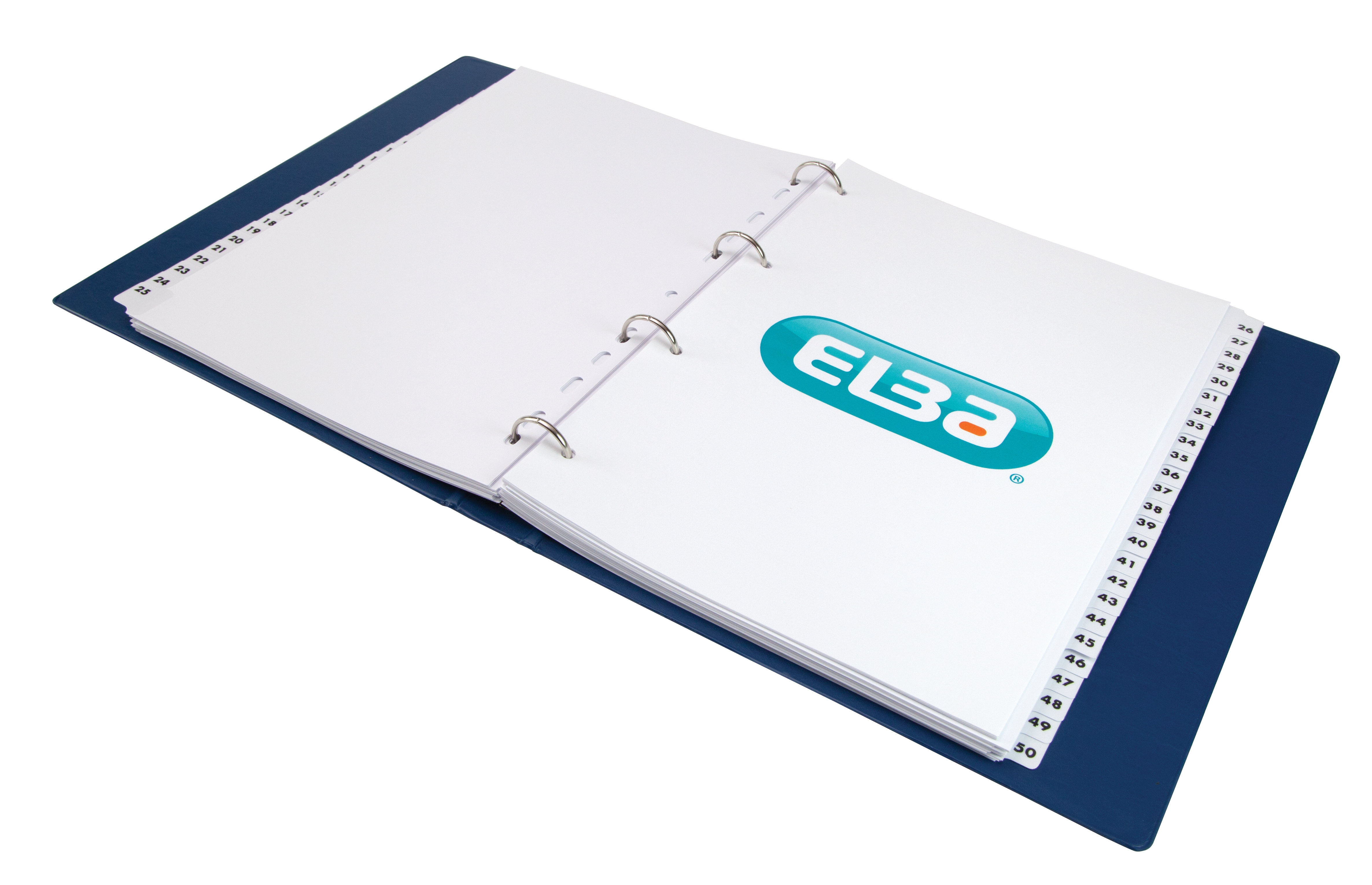 Image for Elba Dividers Europunched 1-50 Clear Tabs A4 White Ref 100080813