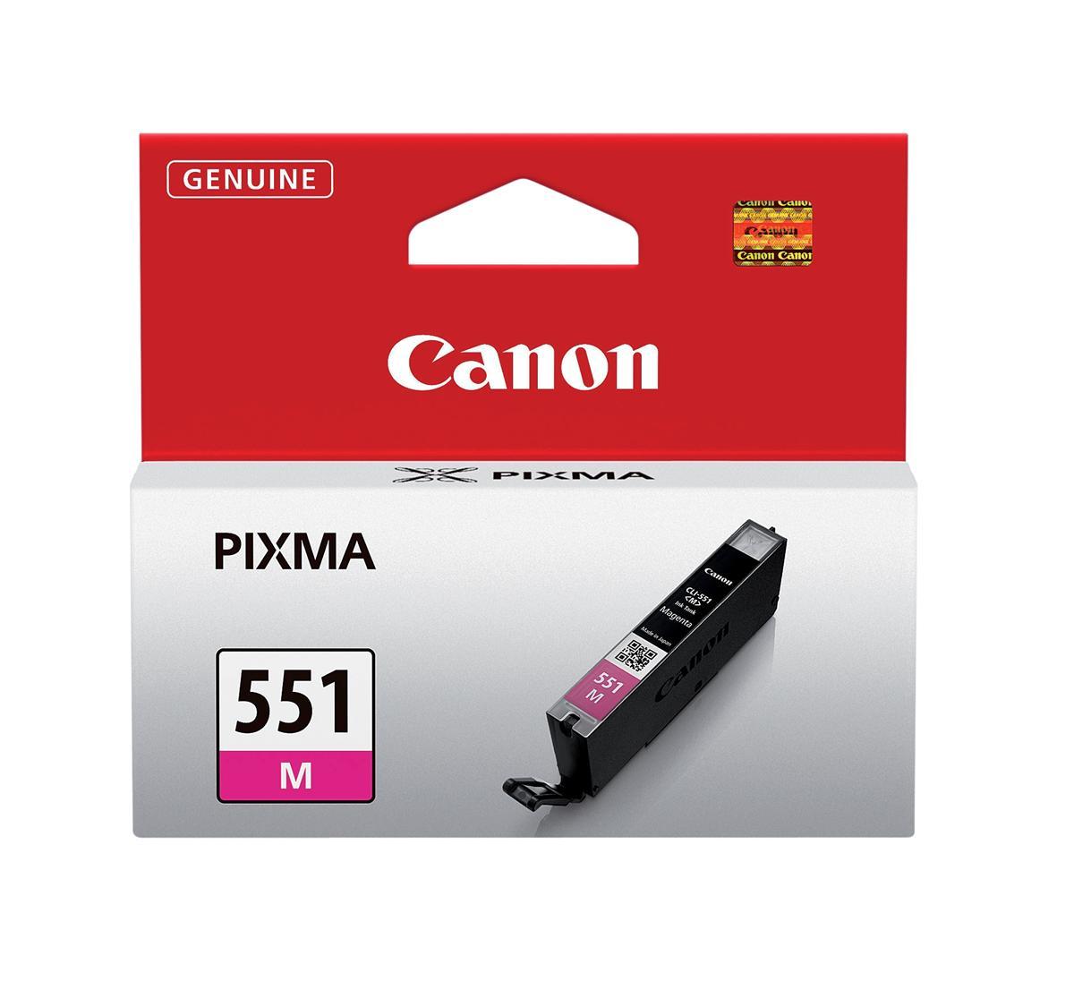 Canon CLI-551M Inkjet Cartridge Page Life 298pp 7ml Magenta Ref 6510B001