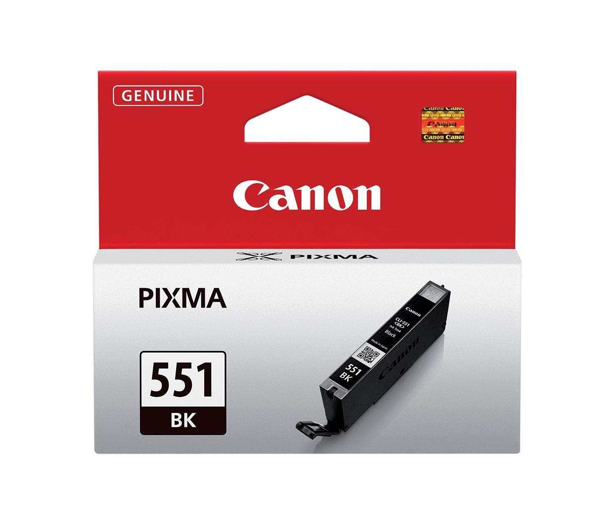Canon CLI-551BK Inkjet Cartridge 7ml Page Life 495pp Photos Black Ref 6508B001