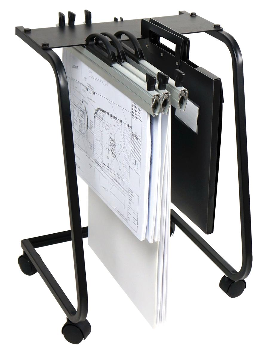 Image for Arnos Hang-A-Plan General Front Load Trolley for 15 Binders A2 A3 Ref D062