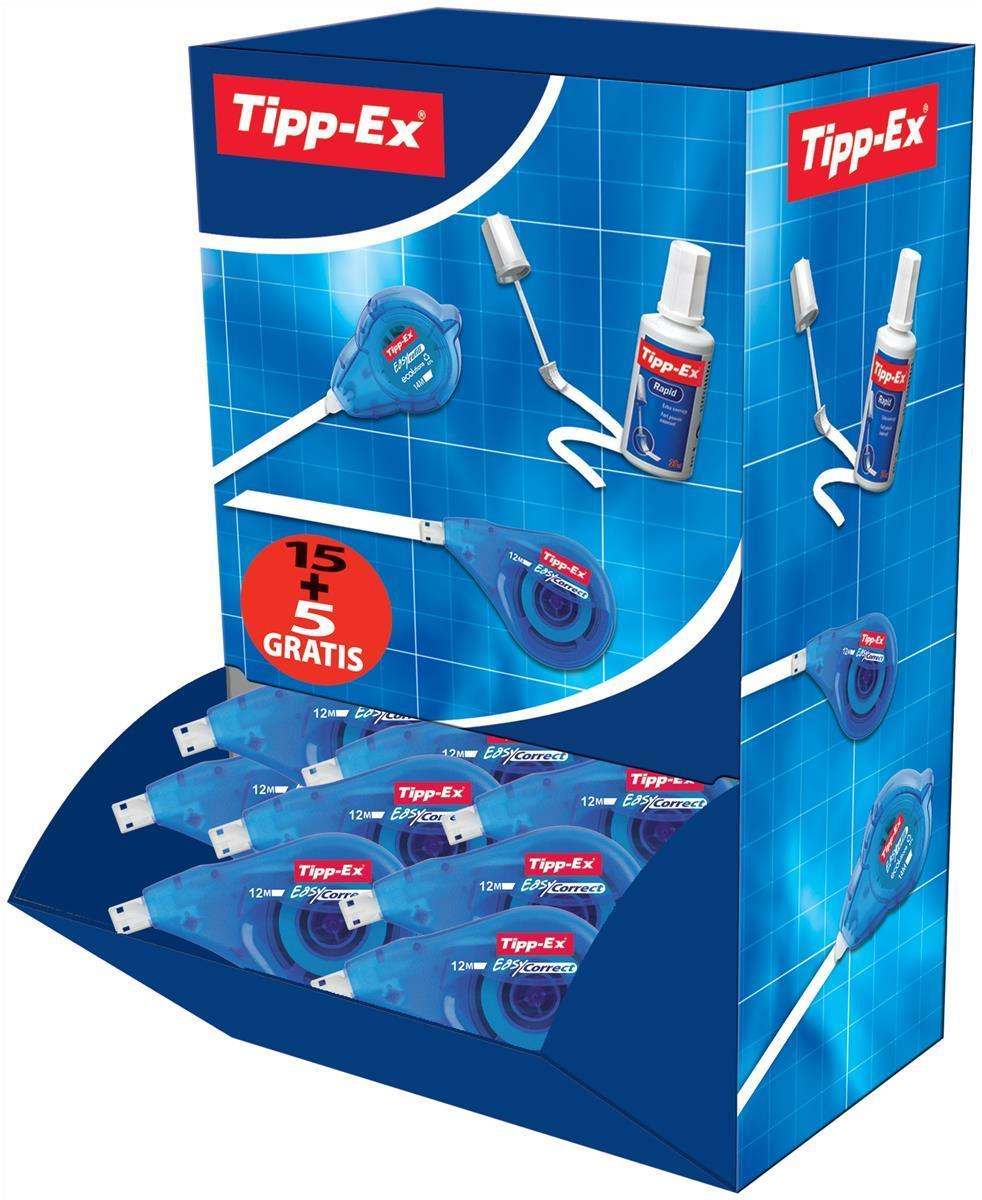 Image for Tipp-Ex Easy-correct Correction Tape Roller 4.2mmx12m Ref 895951 [Pack 15 & 5]