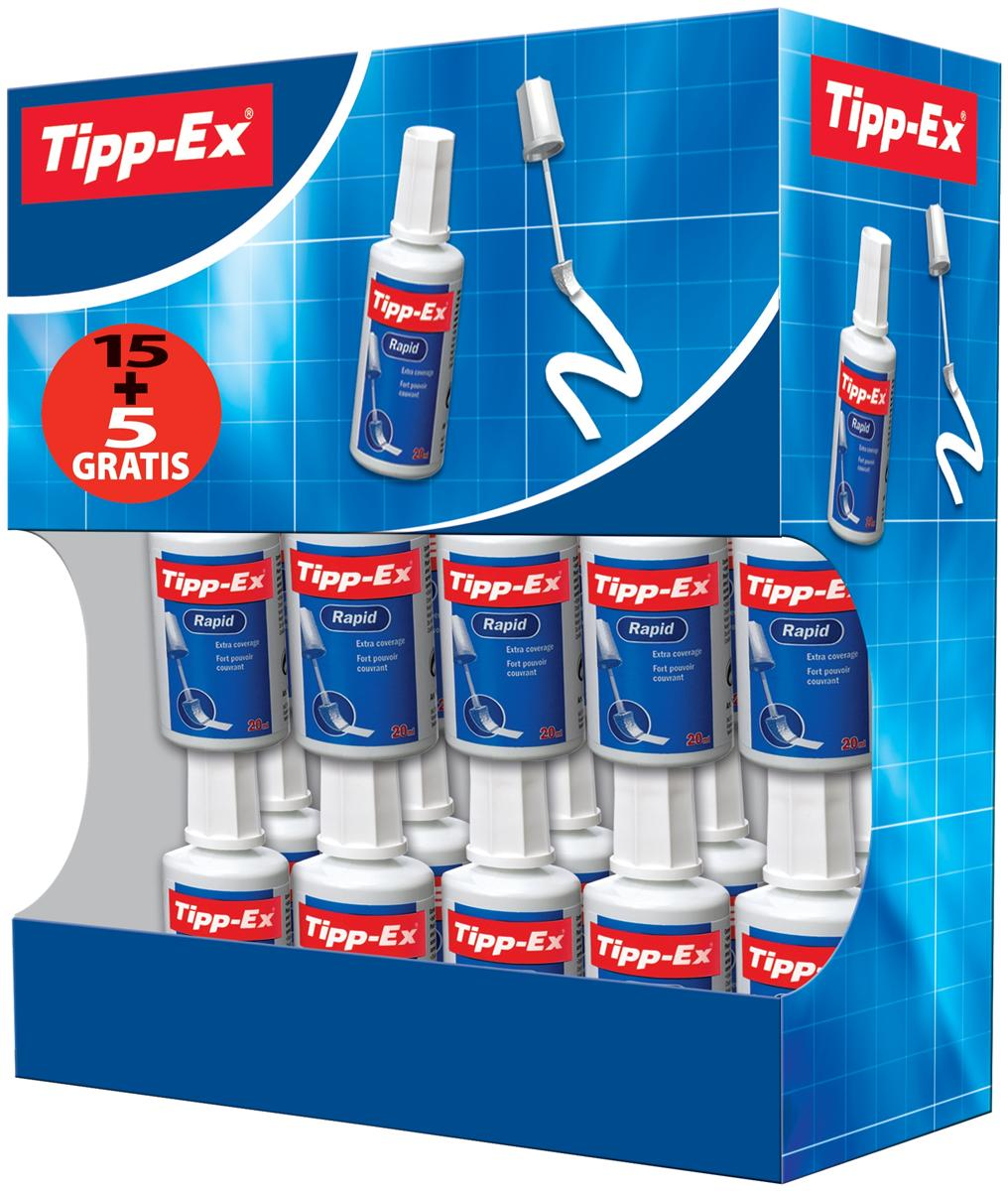 Image for Tipp-Ex Rapid Correction Fluid Fast-drying 20ml White Ref 895950 [Pack 15 & 5]