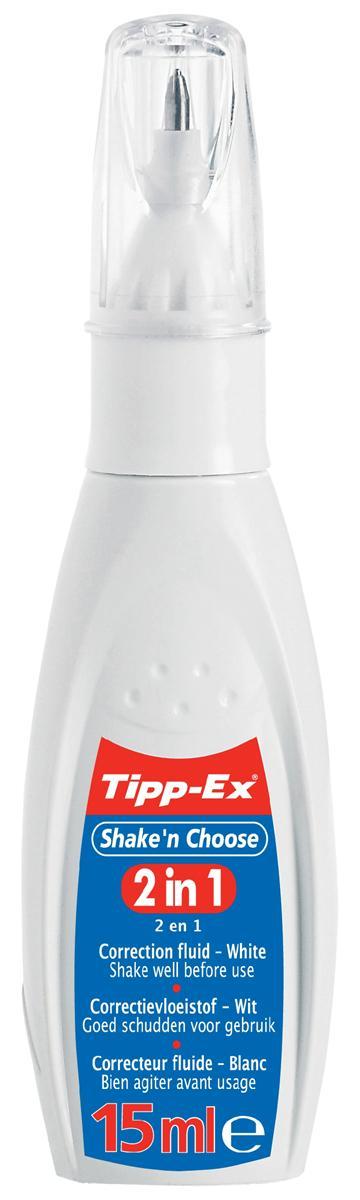 Image for Tipp-ex Shake n Choose 2 in 1 Correction Fluid Pen 15ml Ref 901731 [Pack 10]