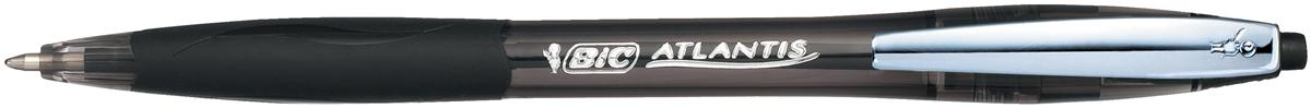 Bic Atlantis Premium Ball Pen Retractable Rubber Grip 1.0mm Black Ref 902133 [Pack 12]
