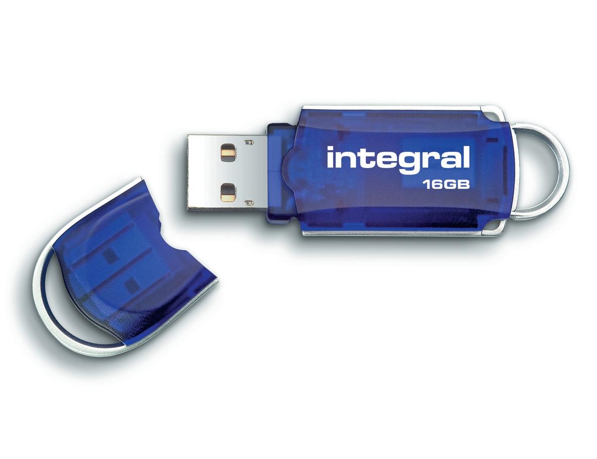 Integral Courier USB 3.0 Flash Drive Blue 16GB Ref INFD16GBCOU3.0