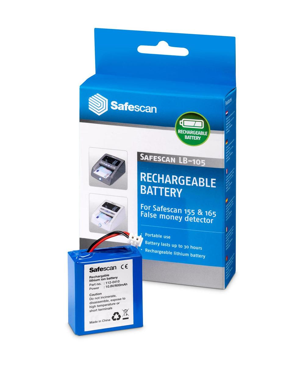 Safescan LB-105 Rechargeable Lithium Battery For Model 155i Ref 112-0410