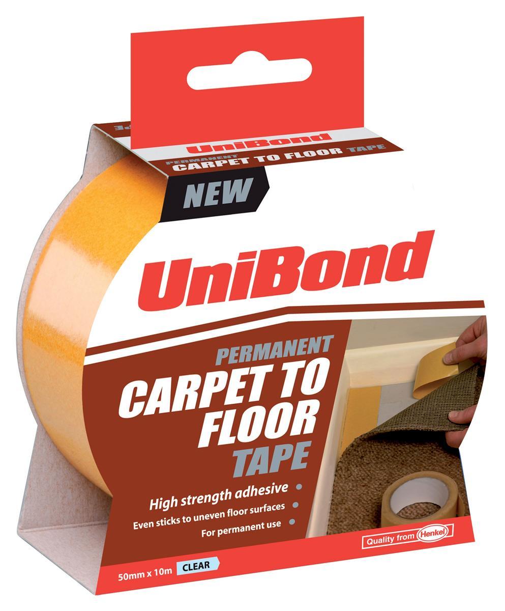 Image for UniBond Carpet To Floor Tape Permanent 50mmx10m Ref 1667748