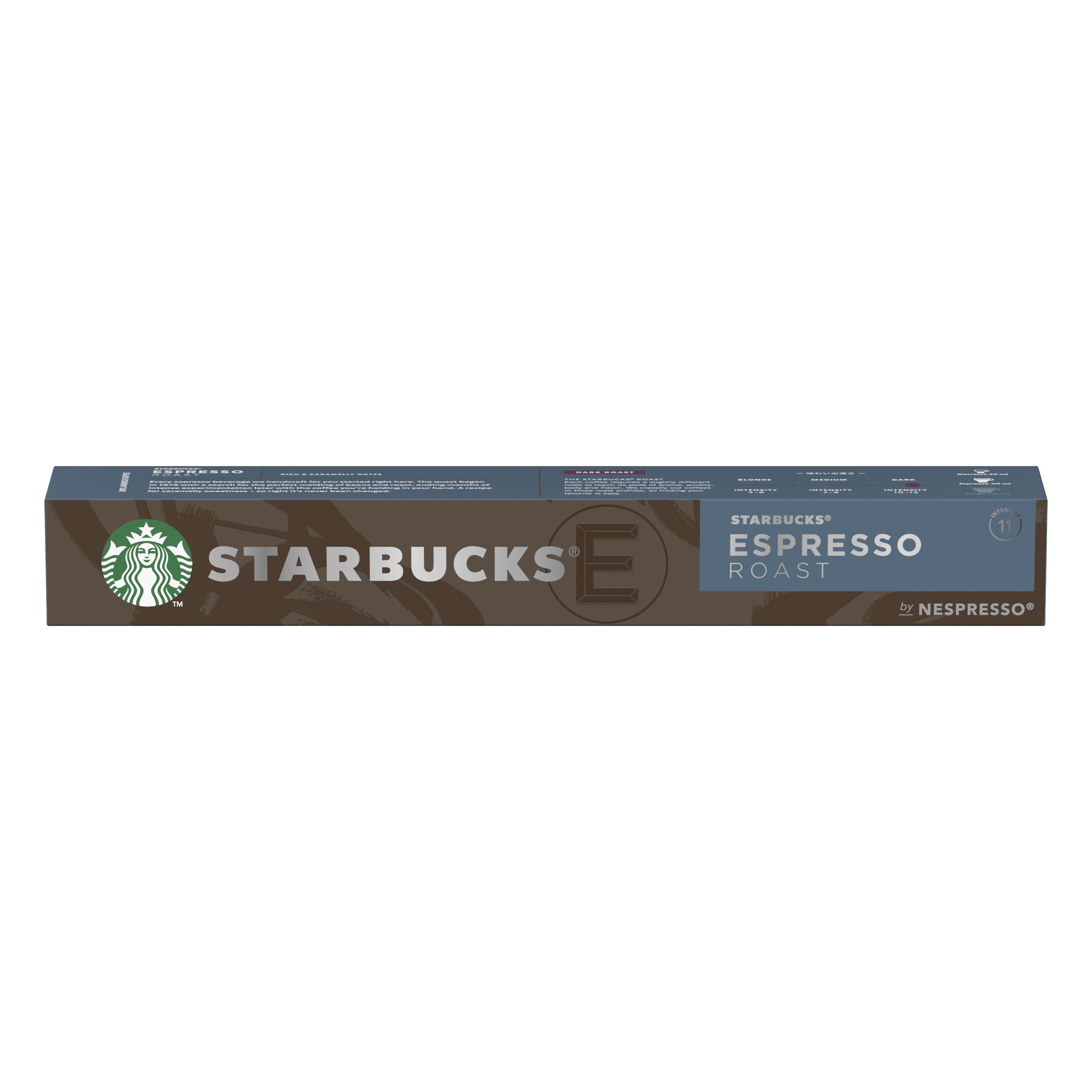 Instant coffee Starbucks by Nespresso Espresso Roast 10x12x57g 120 Pods Ref 12423393