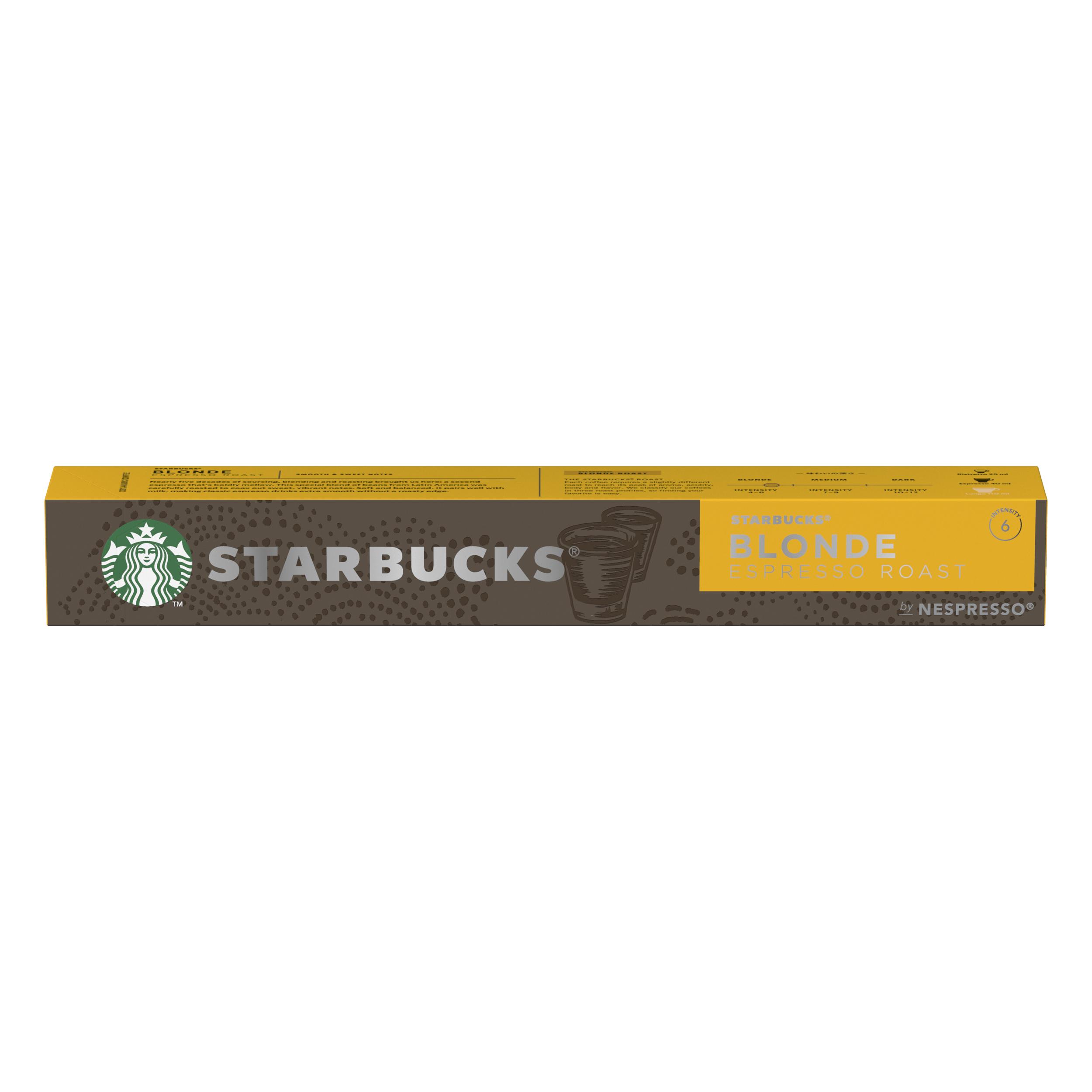 Instant coffee Starbucks by Nespresso Blonde Roast Espresso 10x12x57g 120 Pods Ref 12423392