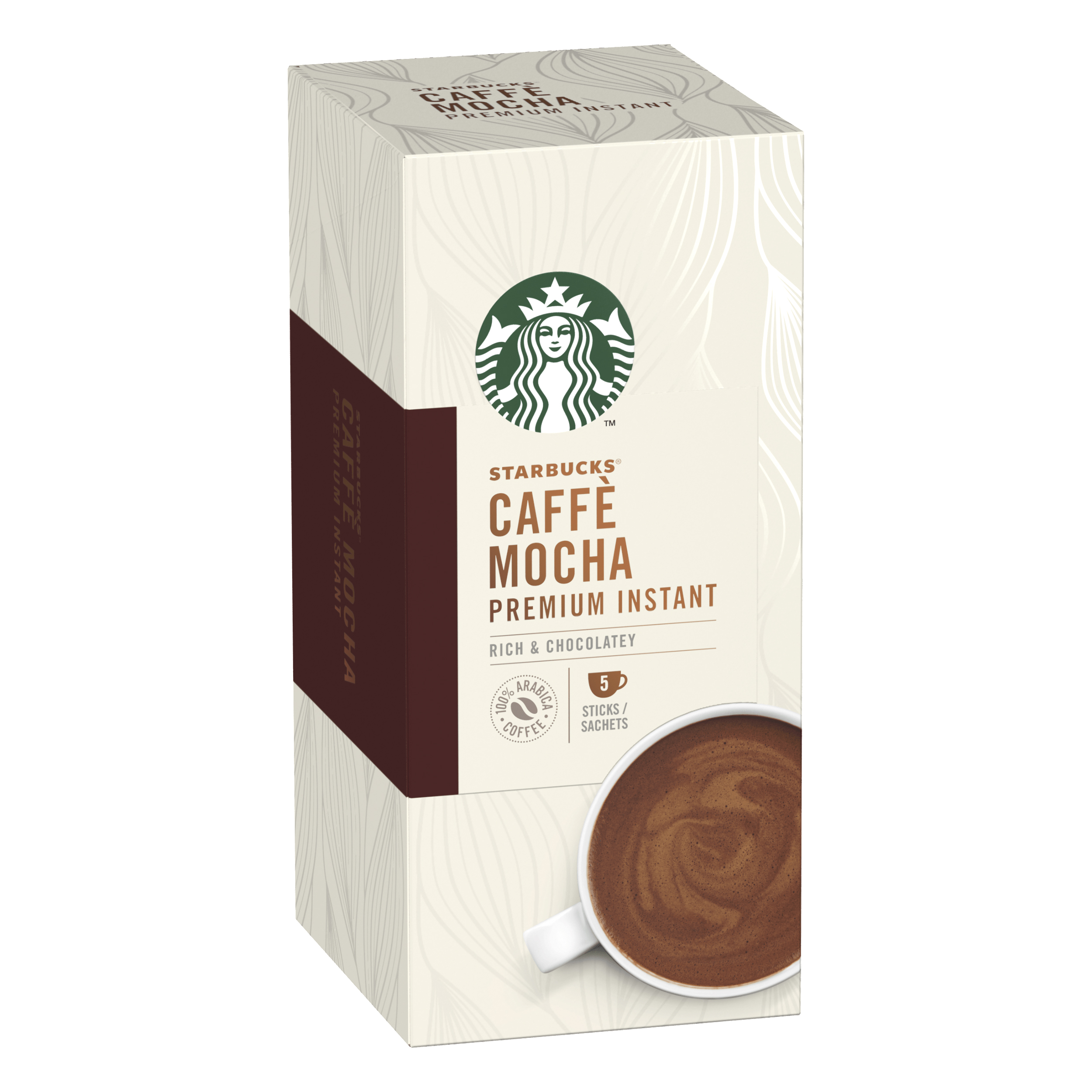 Instant coffee Starbucks Mocha Sachets 6 Boxes Each with 5 x 110g Sachets Ref 12431758