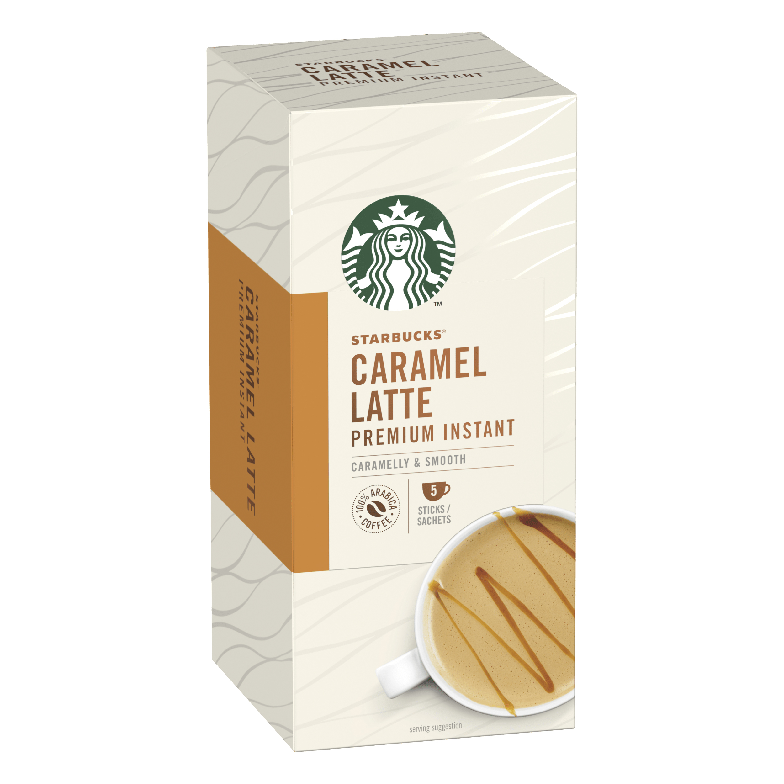 Instant coffee Starbucks Caramel Latte Sachets 6 boxes Each with 5 x 107g Sachets Ref 12431759
