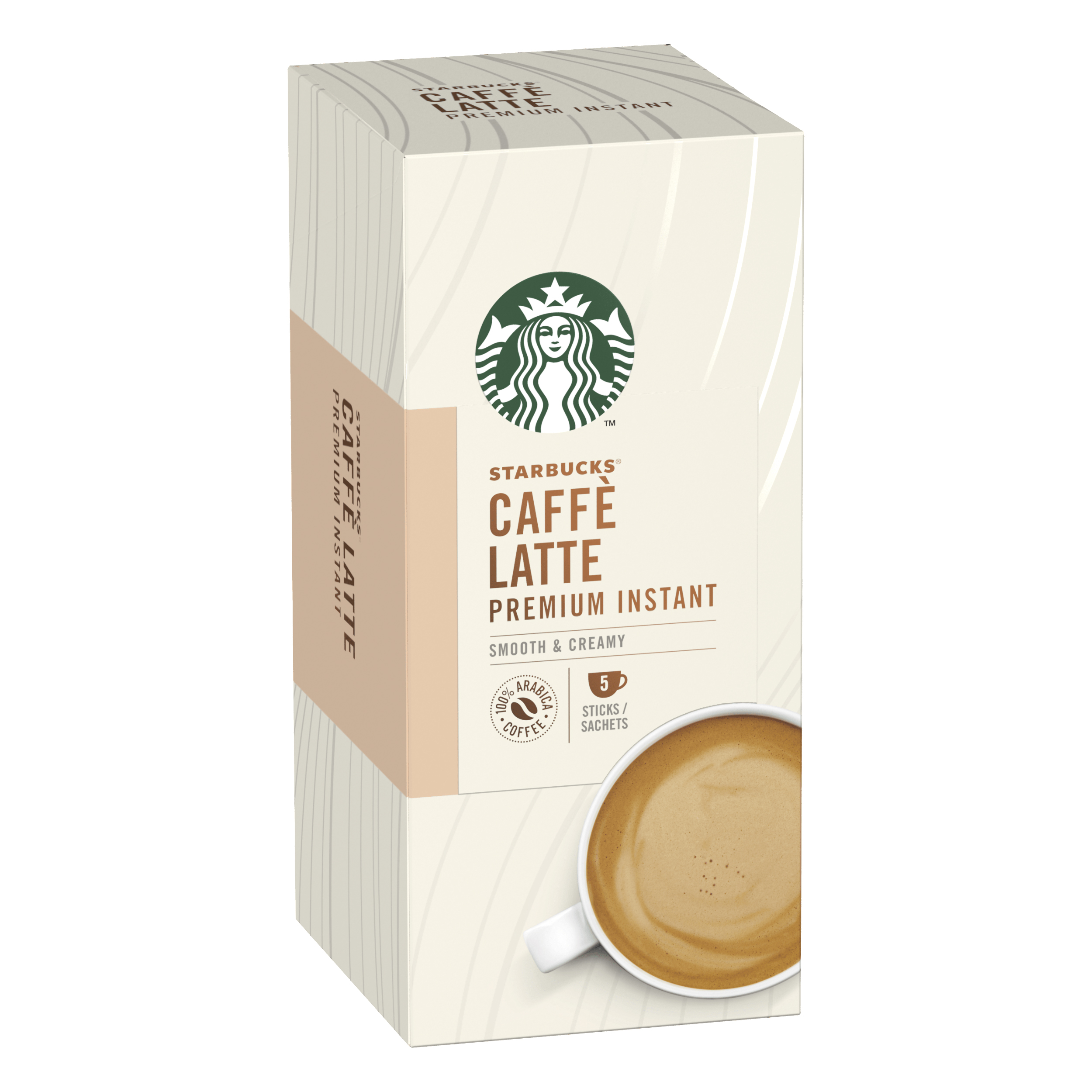 Instant coffee Starbucks Latte Sachets 6 Boxes Each with 5 x 70g Sachets Ref 12431777