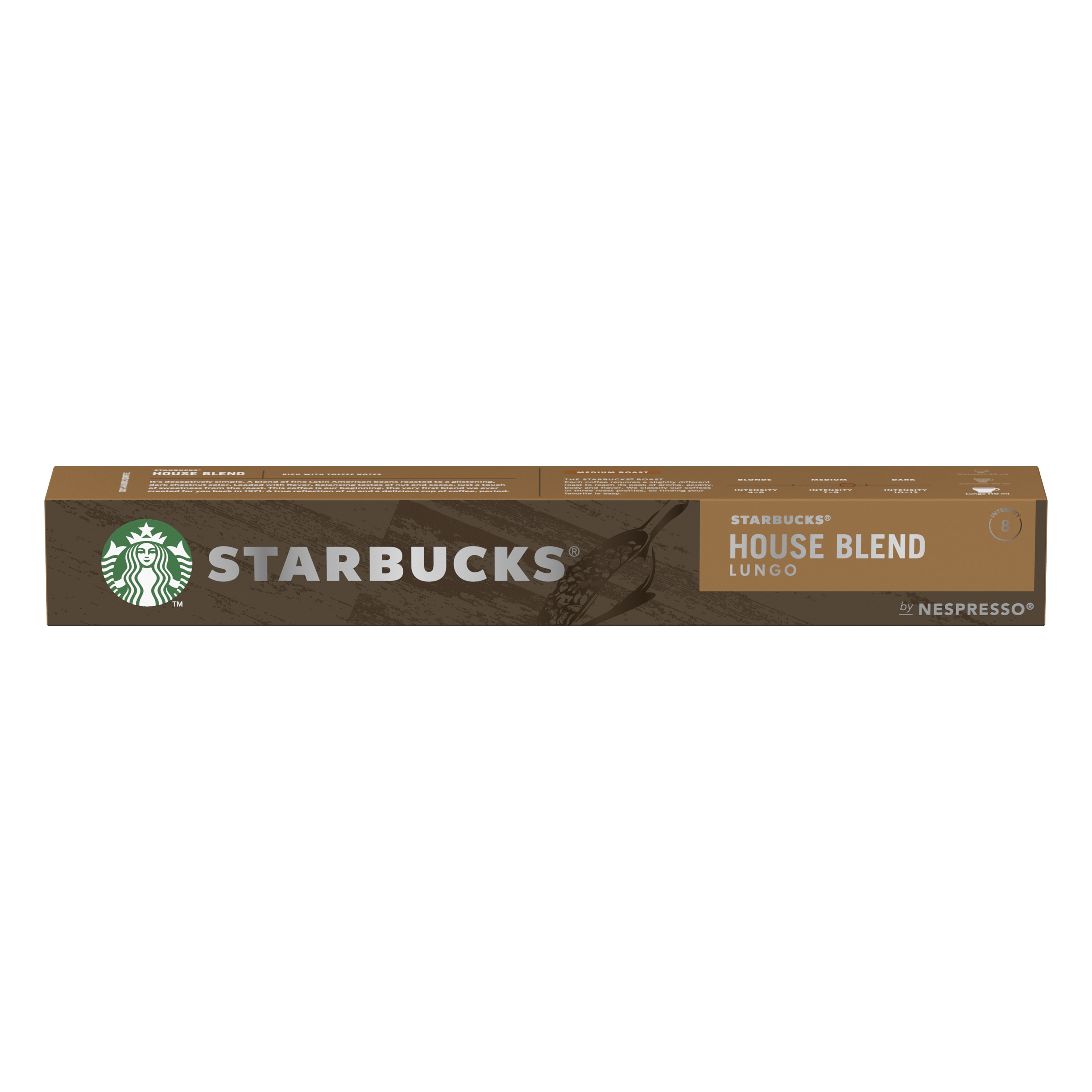 Instant coffee Starbucks by Nespresso House Blend Lungo 12x57g 120 Pods Ref 12423278