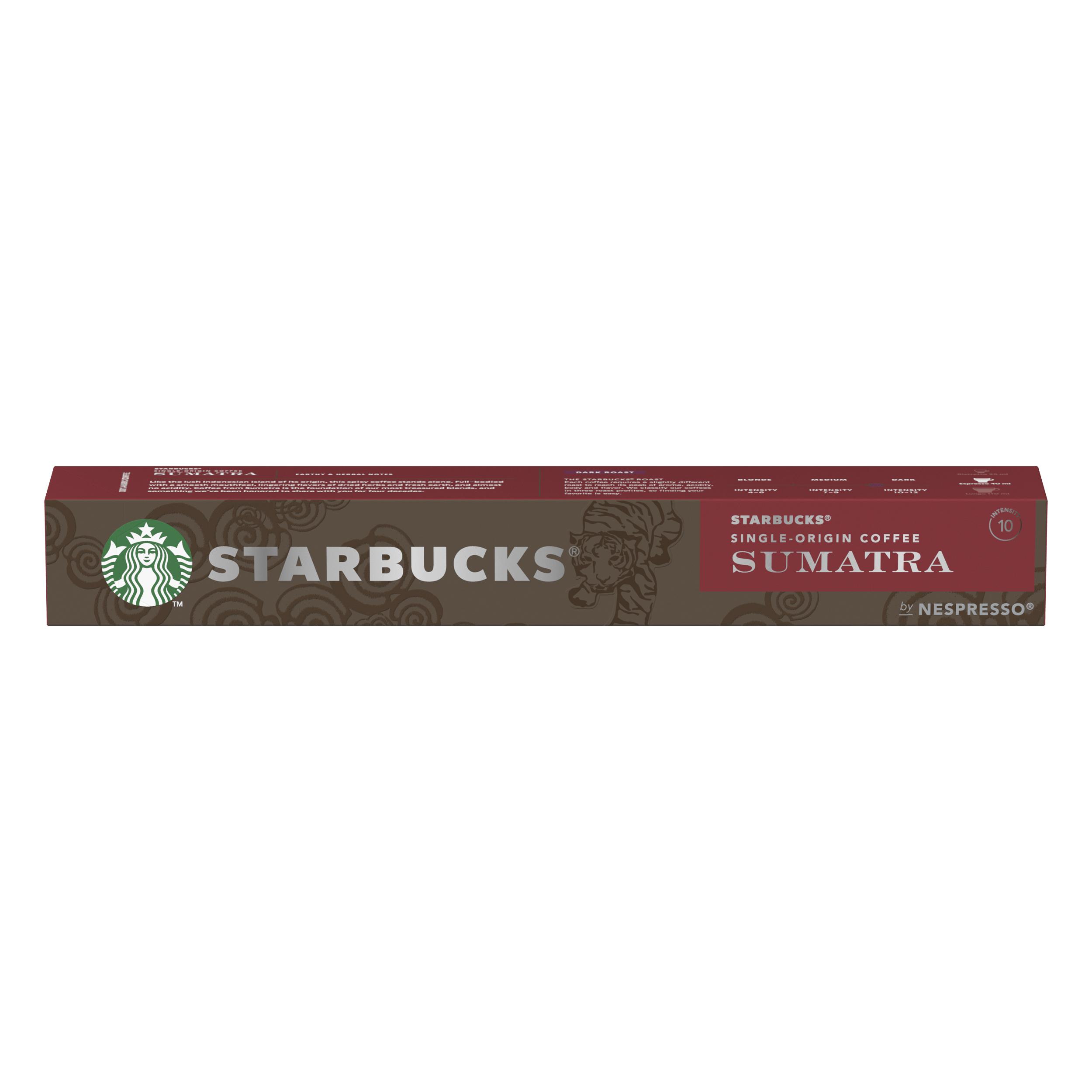 Instant coffee Starbucks by Nespresso Sumatra Espresso 12x55g 120 Pods Ref 12423376