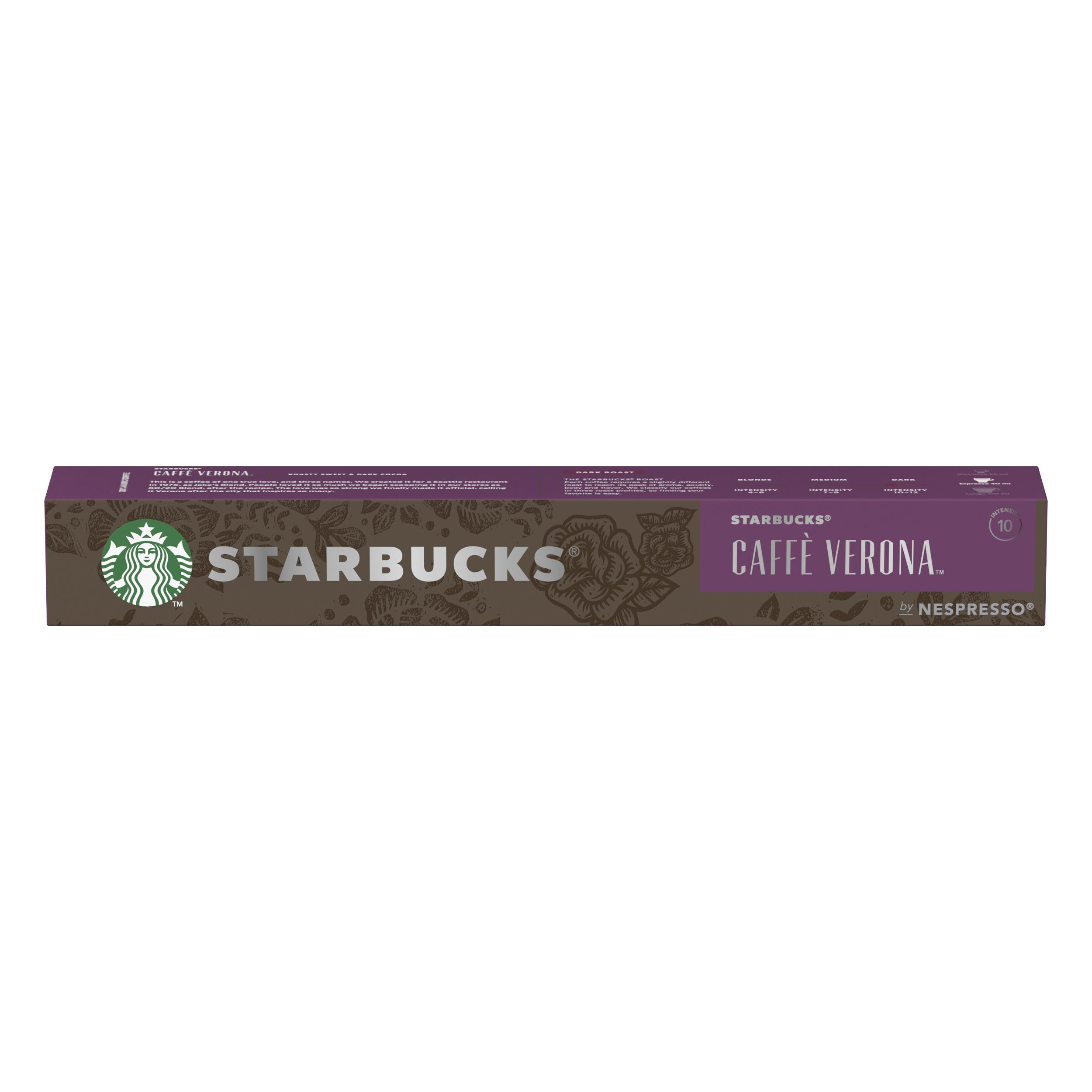 Instant coffee Starbucks by Nespresso Caffe Verona Espresso 10x12x55g 120 Pods Ref 12423396